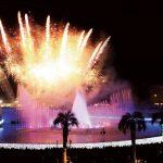よみうりランド、噴水ショーと700発花火のコラボショーを開催
